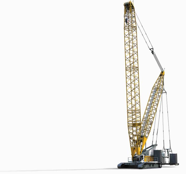 New LR 1300 SX crawler and 125 K fast-erecting crane from